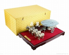 西安禮品銅車馬擺件