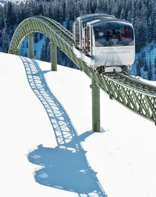 Monorail train in the mountain 1
