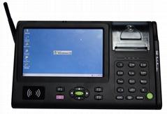 13.56MHz ISO14443 15693 bar code GPRS wifi 3G GPS Bluetooth thermal printer POS