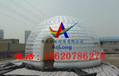 Transparent tent, semicircle tent, exhibition tent, light tent