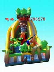 充氣旋轉滑梯,充氣大型滑梯,充氣儿童玩具
