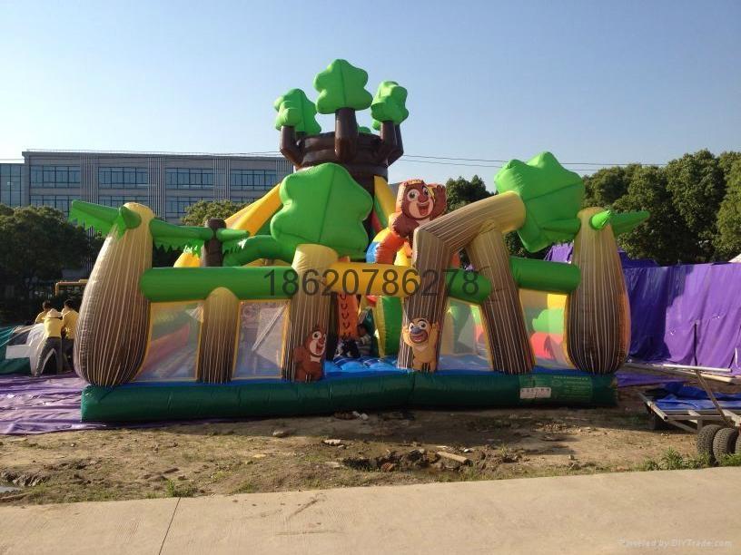 充氣旋轉滑梯,充氣大型滑梯,充氣儿童玩具 3