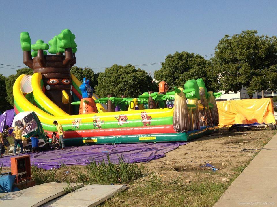 充气旋转滑梯,充气大型滑梯,充气儿童玩具 5