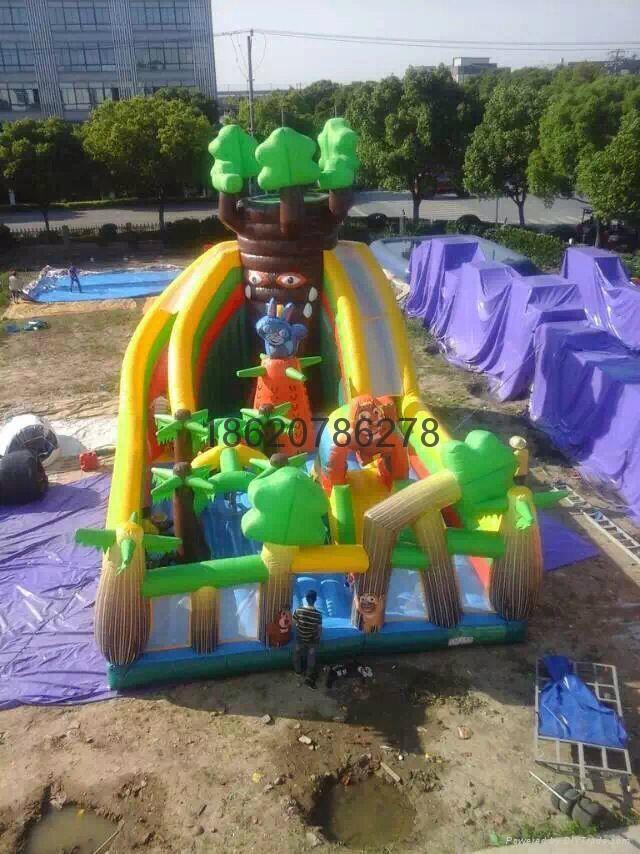 充气旋转滑梯,充气大型滑梯,充气儿童玩具 2