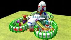 充氣航空母艦,充氣太空基地,充氣娛樂城堡