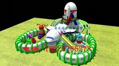 Air carrier, air space base, inflatable entertainment castle