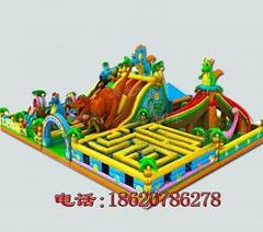 充氣恐龍森林城堡,充氣夢幻城堡,儿童娛樂城,充氣障礙迷宮,