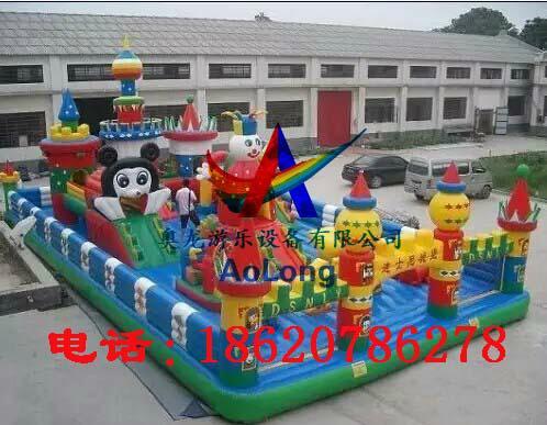 Disney castle, inflatable inflatable large entertainment children castle  2