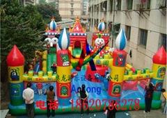 充气迪斯尼城堡,充气大型娱乐儿童城堡