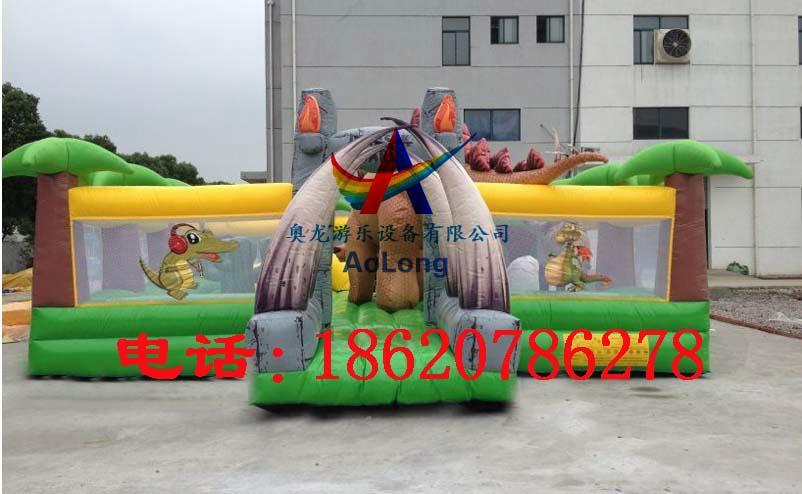 Inflatable dinosaur park, inflatable trampoline  1
