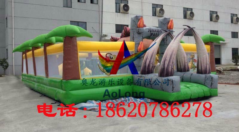 Inflatable dinosaur park, inflatable trampoline  2