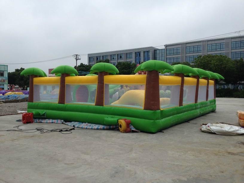 Inflatable dinosaur park, inflatable trampoline  4