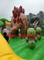 Inflatable dinosaur park, inflatable trampoline  5