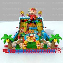 充氣豬豬俠城堡,充氣海洋世界城堡
