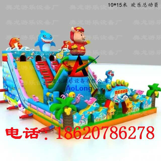 Inflatable pigpigman castle, inflatable sea castle in the world  2