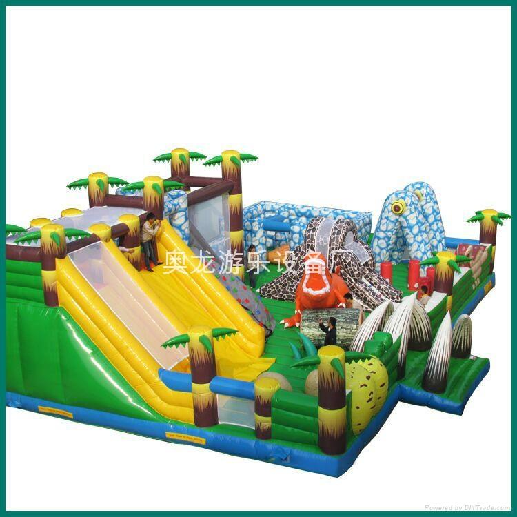 Inflatable snow dinosaur park, inflatable castle dinosaur  1