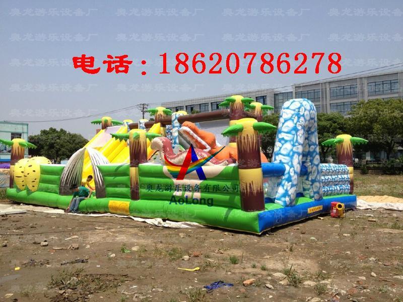 Inflatable snow dinosaur park, inflatable castle dinosaur  2
