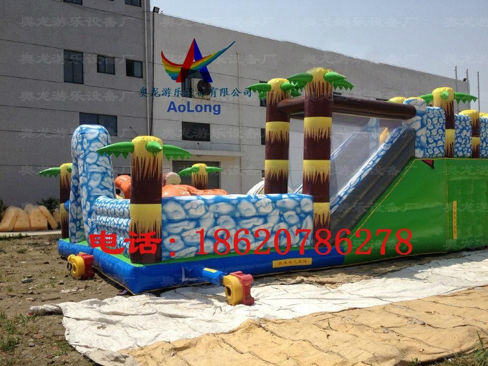 Inflatable snow dinosaur park, inflatable castle dinosaur  3