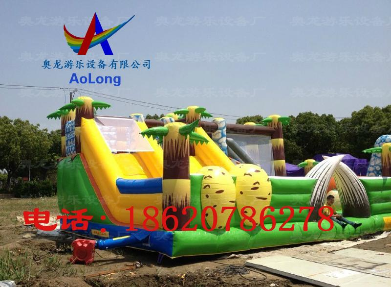 Inflatable snow dinosaur park, inflatable castle dinosaur  4