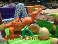 Inflatable snow dinosaur park, inflatable castle dinosaur  8