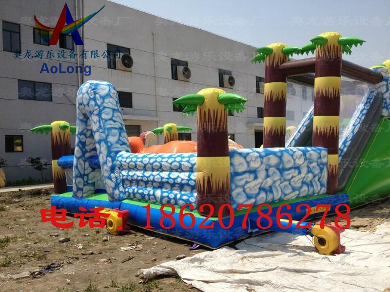 Inflatable snow dinosaur park, inflatable castle dinosaur  6