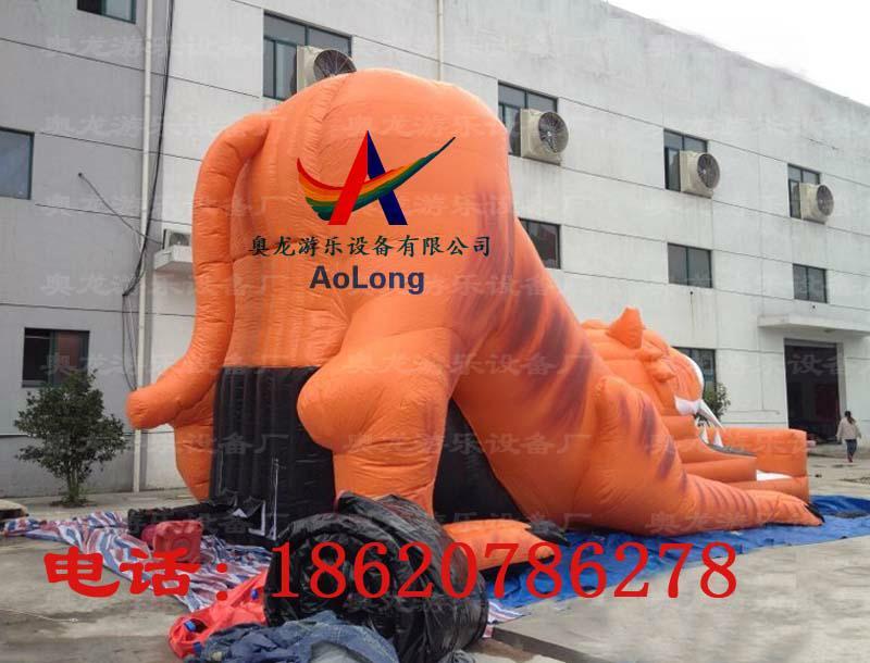 Inflatable slide tiger  5