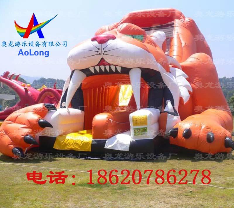 Inflatable slide tiger  6