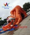 Inflatable slide tiger  3