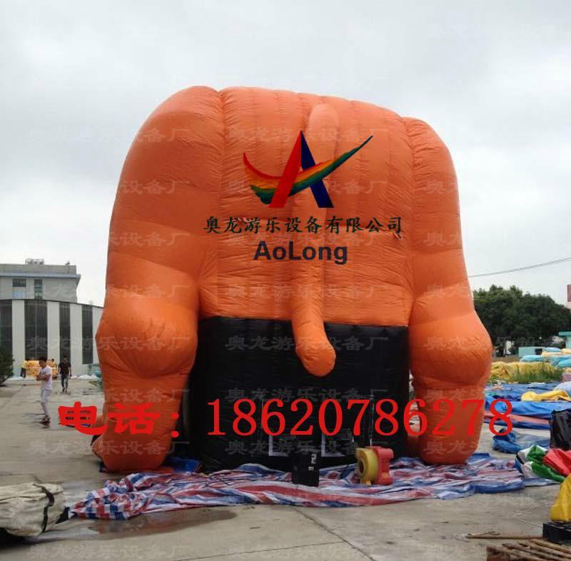 Inflatable slide tiger  7