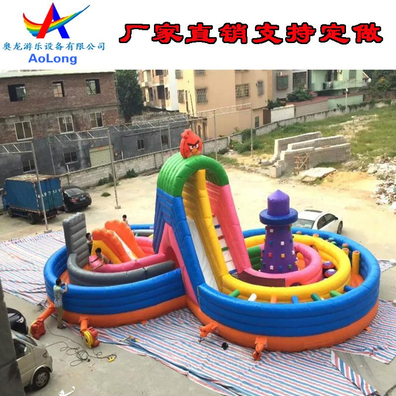 Inflatable eight rock climbing  2