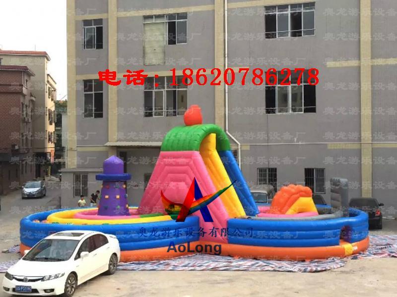 Inflatable eight rock climbing  3
