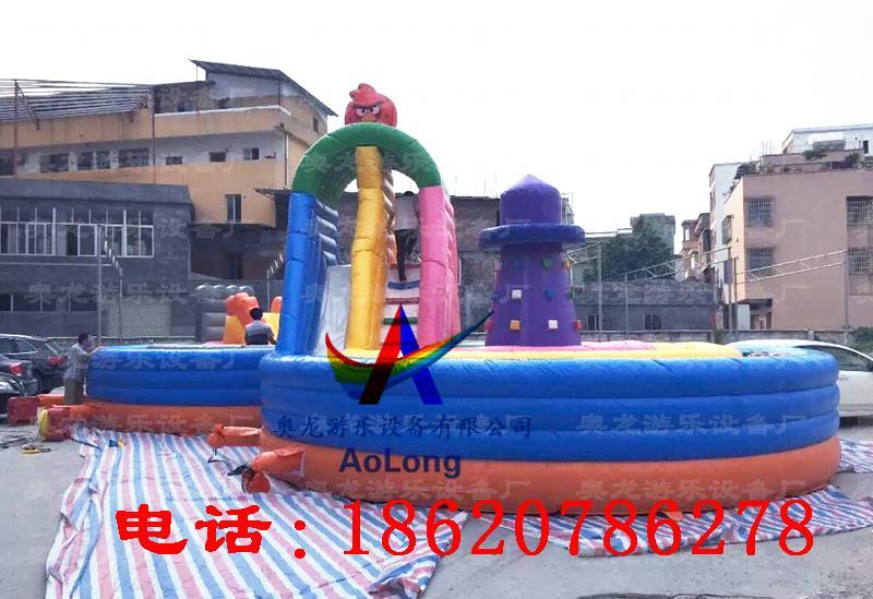 Inflatable eight rock climbing  4