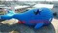 充气大鲸鱼,百万海洋球池鲸鱼帐