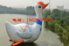 Inflatable white swan ,Super breath water white swan