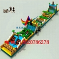 Inflatable land stage mode, large land rushed off obstacle,  3