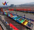 Inflatable land stage mode, large land rushed off obstacle,  2