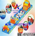 Inflatable land stage mode, large land rushed off obstacle,  6