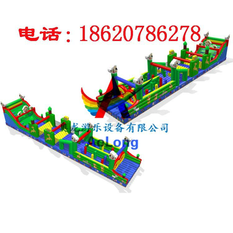 Inflatable land stage mode, large land rushed off obstacle,  10