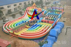 Inflatable land stage mode, large land rushed off obstacle,