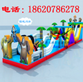 Inflatable land stage mode, large land rushed off obstacle,  7