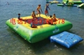 Inflatable water trampoline