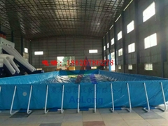 Large mobile scaffold pool