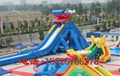 Inflatable large tap water slides  3
