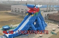 Inflatable large tap water slides