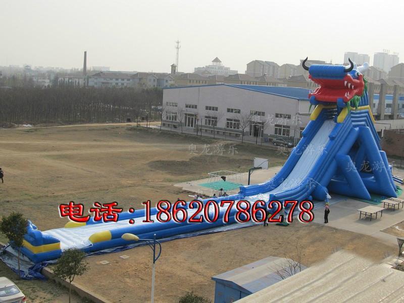 充气大型龙头水滑梯 2