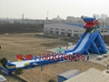 Inflatable large tap water slides  2