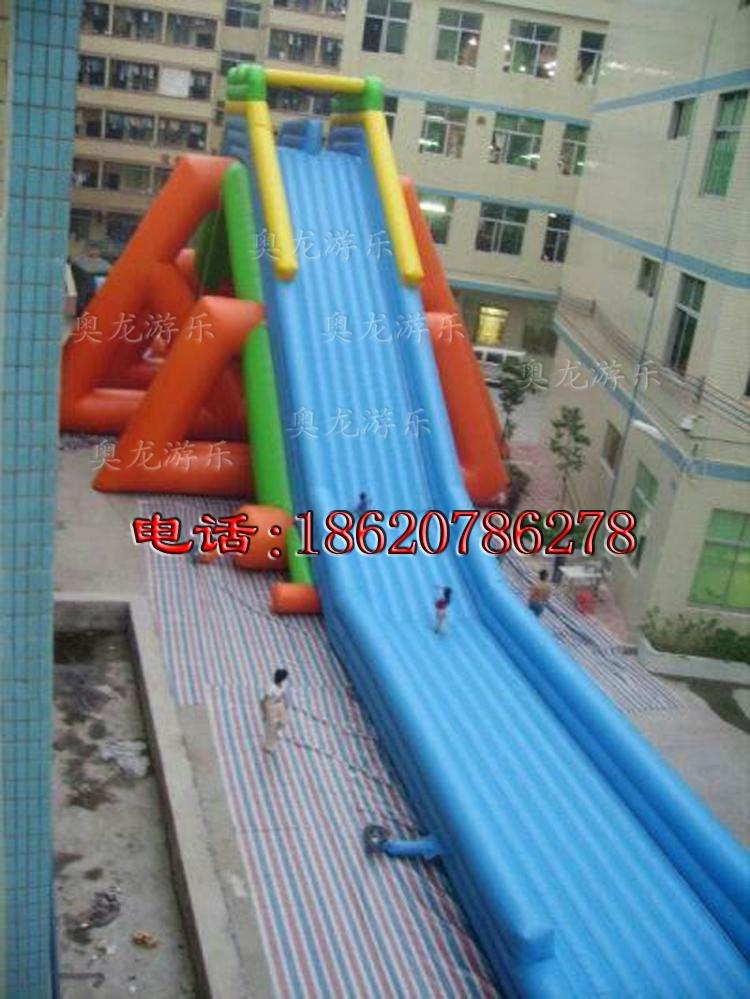 Inflatable large tap water slides  5