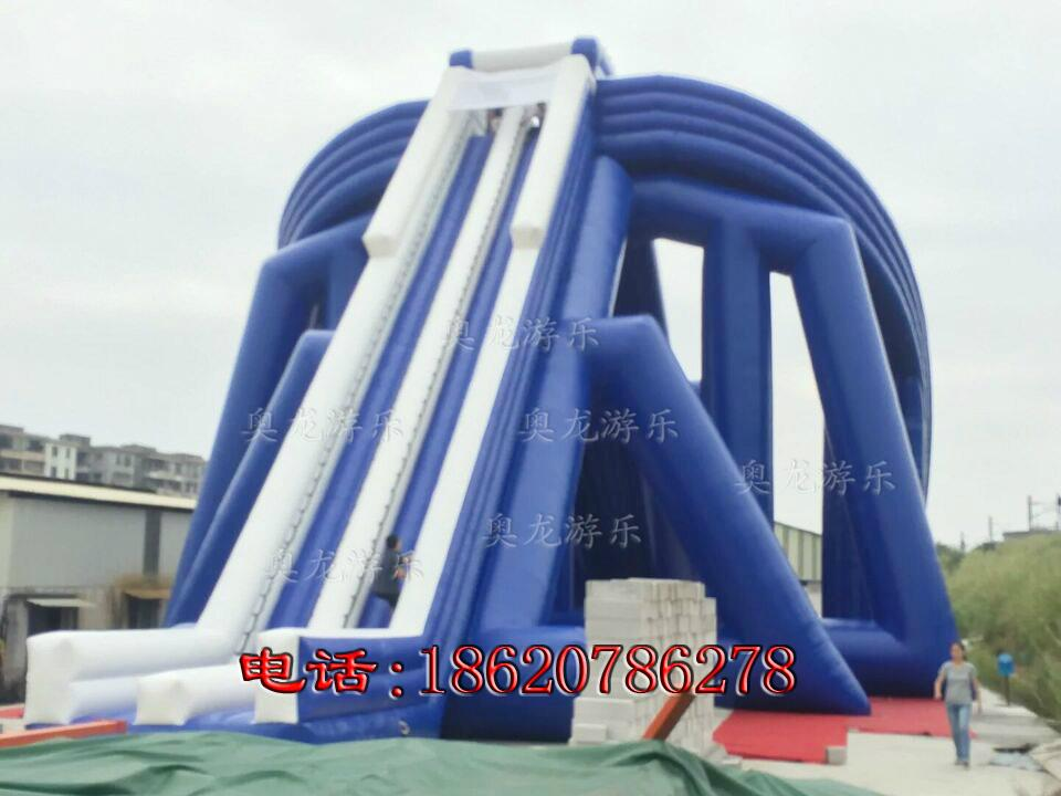 Inflatable large three water slides 8