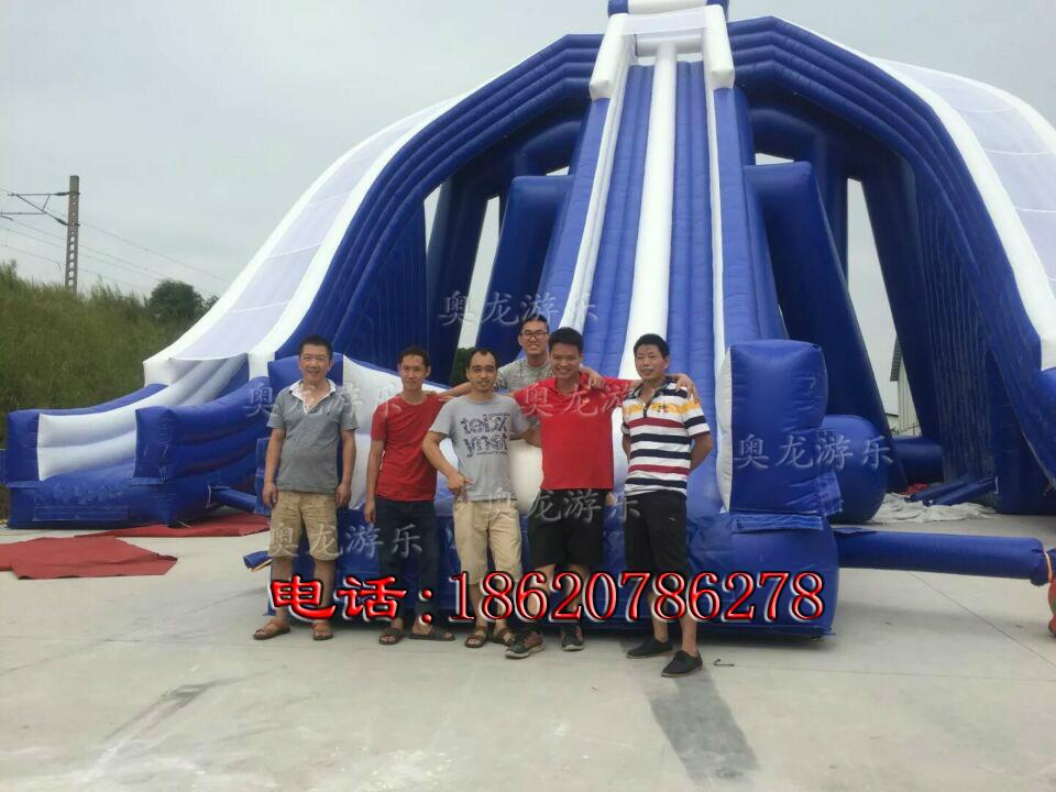Inflatable large three water slides 6