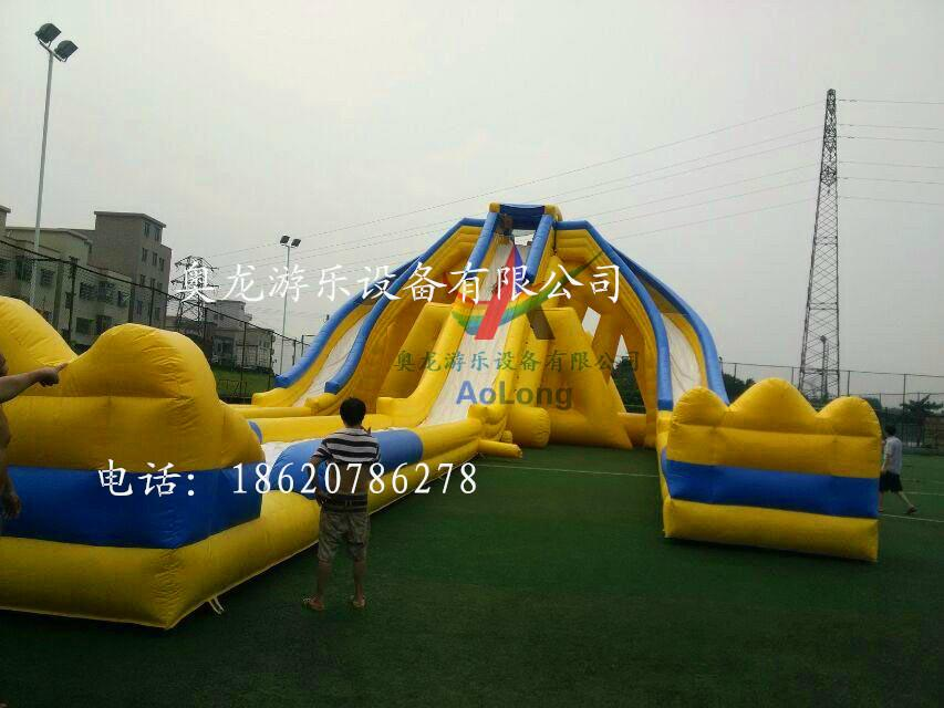 Inflatable large three water slides 2